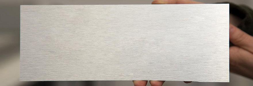 dibond aluminum brossé